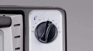 Severin TO 2034 Toastofen / ca. 1500 Watt / 20 Liter Garraum / Schwarz-silber -